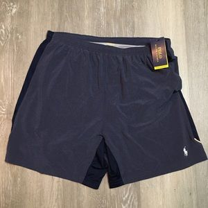 NWT polo Ralph lauren performance logo blue shorts
